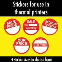 Thermal printer - Circular Sale labels / stickers