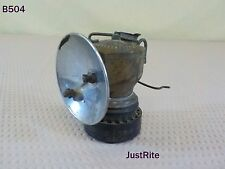 VINTAGE BRASS JUSTRITE MFG. CARBIDE CAVE LANTERN LAMP COAL MINER TOOL LIGHT OLD