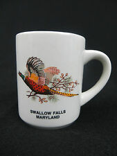 VINTAGE SWALLOW FALLS, MARYLAND - 8 OUNCE COFFEE MUG - PHEASANT DESIGN