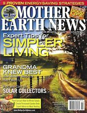 Mother Earth News magazine Simpler living Solar collectors Plant spinach Garden