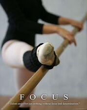 Ballet Dance Motivational Poster Art Print Shoes Flats Tutu Leotard Skirt MVP250