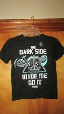 "Gap Kids ""The Dark Side Made Me Do It"" Angry Birds Star Wars Shirt-Small  (G 12)"