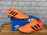 ADIDAS MENS UK 7.5 EU 41 1/3 NEMEZIZ 18.4 FG ORANGE FOOTBALL BOOTS PERSONALISED