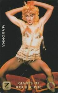 Telefoonkaart / Phonecard ongebruikt prepaid - Madonna (R74)