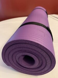 Balance From Exercise Yoga Mat - 1/4-Inch Ribbed - Purple with Strap