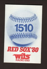 1980 Boston Red Sox Schedule--WITS/Realty World