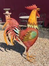coq en métal multicolore Ht 128 cm