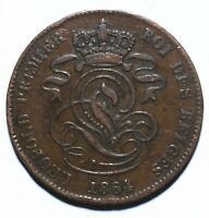 1864 Belgium Two 2 Centimes - Leopold I - Lot 2165