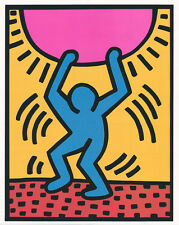 "Keith Haring ""Growing"" 1988 Wachsen Sonne Graffiti Kunstdruck USA Neu Poster 045"