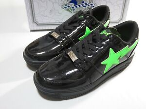 26857 bape x XO bapesta low black US9