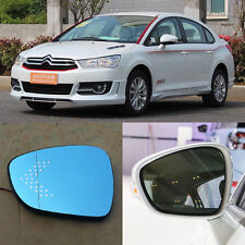 Rearview Mirror Blue Glasses LED Turn Signal with Heating For Citroen C-Quatre