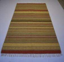Handmade Attractive Multi Striped Kilim Home Decorative Area Rug