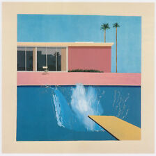 A Bigger Splash David Hockney print in 11 x 14 mount ready to frame SUPERB
