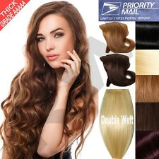 Double Weft Clip In Remy Human Hair Extensions Full Head THICK 150g160g180g+ F94