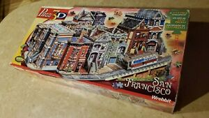"""VTG. - WREBBIT (3-D) PUZZ - """"SAN FRANCISCO"""" ~ 12+ ~ EXCELL. USED CONDITION!"""