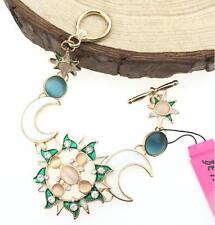Women Gift Jewelry Betsey Johnson New Sun Moon Star Rhinestone Chain Bracelet US