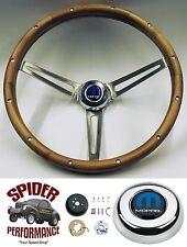 """1970-1974 Charger steering wheel MOPAR 15"""" MUSCLE CAR WALNUT steering wheel"""
