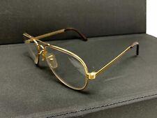 Vintage Cottet Gold Metal Aviator Pilot 56 Eyeglasses Frames 56 [] 18 145