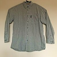 Columbia Long Sleeve Button Front Shirt Check Pattern Men's Size Large L