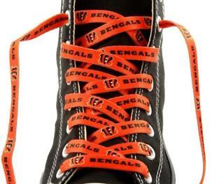 """Cincinnati Bengals Shoe Laces Strings NFL Team Colors 54"""" One Pair Lace Ups"""