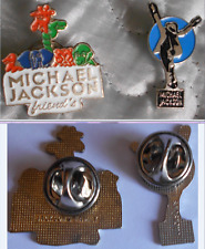 "MICHAEL JACKSON 2 PIN'S JACKSON'S FAMILY ""MJ FRIEND'S & MOONWALKER"" - VINTAGE"