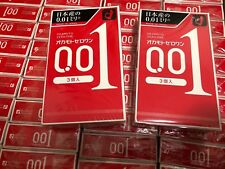 New Japan 0.01 Polyurethane Thin Lubricate Condoms OKAMOTO 3 pcs/box US Seller