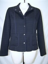 Aeros Black Long Sleeve Snap Button Front Lined Jacket Womens Size Medium 8 10