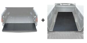 Bed Mat and Tailgate Pad Rubber Liner Set for Pickup Trucks Universal Size