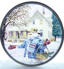 Glassmasters for Lenox Snowman Gathering Pinecones Suncatcher Art Glass