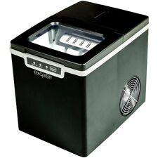 exquisit Eiswürfelmaschine EM 6001 schwarz LED Eiswürfelbereiter 1,9L Wassertank