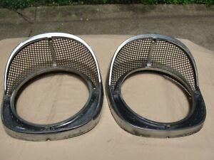 One pair 1957 Chevrolet 150,210, & Belair Headlight Trim Rings Used 5948143