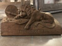 Antique Swiss Wood Carving - Lion of Lucerne