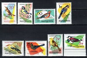 HUNGARY STAMPS- Birds of woods and fields , set of 8, 1961  MNH **