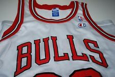 90s Champion NBA #23 Chicago Bulls Michael Jordan White Jersey 40