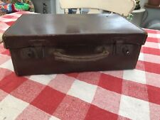 Vintage Brown Suitcase 1930s 1940s SMALL Wedding Prop Needs Leather