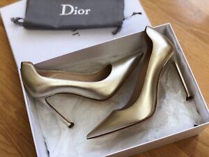 NIB Christian Dior Gold Metallic pumps size 35