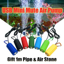 USB Mini Air Pump Water Pump Oxygen Aerator Aquarium Fish Tank Portable Home ~