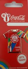 OFFICIAL COCA COLA LONDON 2012 OLYMPIC T-SHIRT PIN BADGE BRAND NEW