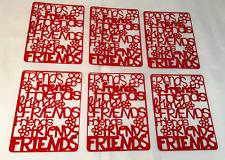 "Your choice of Letter Styles on /""Friends/"" Die Cuts Dayco//AccuCut"