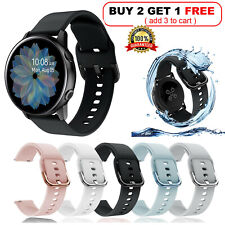 US Samsung Galaxy Watch 42mm Active 2 40/44mm Silicone Sport Band Bracelet Strap