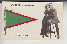 Green and Red Printed Pennant Couple Hugging on a Stool in Middleboro MA Mass