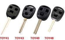 Chiave Alloggiamento per Toyota & Lusso Tre Tasti Telecomando Anello TOY41 43