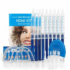 Pro Dental Teeth Tooth Whitening Whitener Bleaching LED White Light Oral Gel Kit