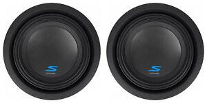 """(2) ALPINE S-W8D4 8"""" 900 Watt Car Audio Subwoofers DVC Dual 4-Ohm Subs"""