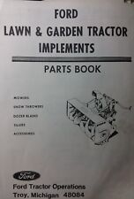 Ford Lawn Garden Tractor Implements Parts Manual 80 100 120 140 LGT 125 145 165
