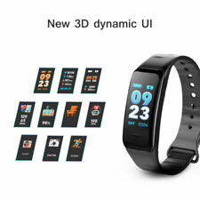 Heart Rate Fitness Tracker Bluetooth Smart Watch Phone Mate for Android iPhone