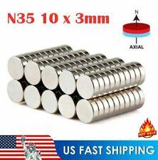 10 50 100 Pcs N35 Super Strong Round Disc 10 x 3mm Magnets Rare Earth Neodymium