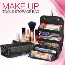 Travel Roll-up Cosmetic Makeup Case Organizer Pouch Hanging Toiletry Wash Bag LH