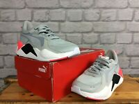 PUMA LADIES UK 4.5 EUR 37.5 RS X GREY WHITE NEON PINK RUNNING TRAINERS  LG