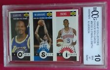 ALLEN IVERSON 1996-97 Upper Deck minis #M152 RC Shaquile Oneal Joe Smith BCCG 10